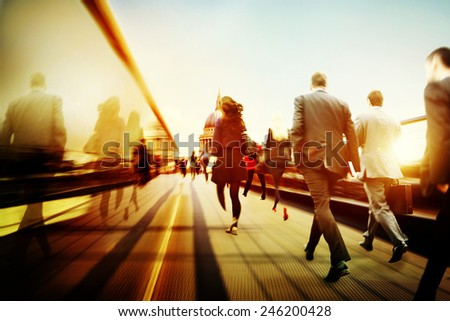 Business People Corporate Walking Commuting City Concept #246200428