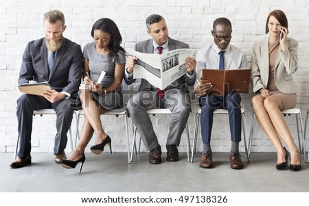 Business People Data Information Technology Concept - Shutterstock ID 497138326