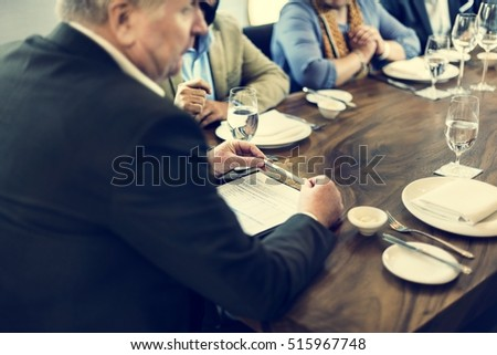Business People Dining Together Concept #515967748