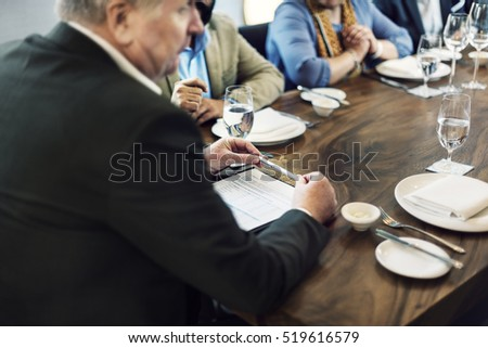 Business People Dining Together Concept #519616579