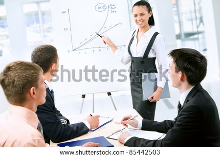 Business people discussing a new project