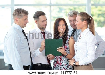 Business people discussing. Everyday setting