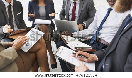 Business People Discussion Marketing Plan Meeting Concept #496121974