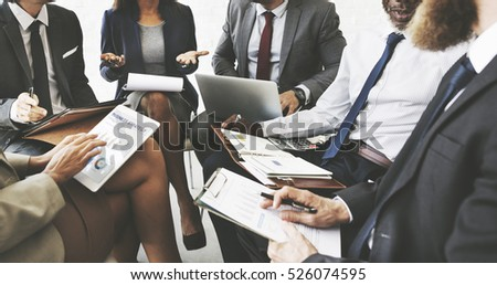 Business People Discussion Marketing Plan Meeting Concept #526074595