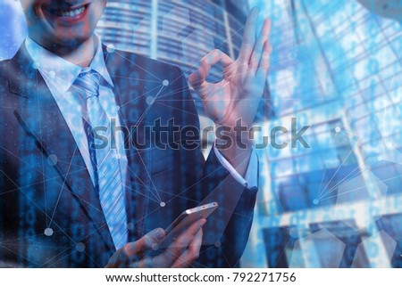 Business people diverse brainstorm meeting concept woman working smartphone tablet #792271756