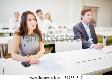 Business people during training in a business workshop