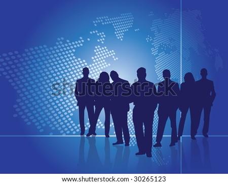 business people. Editable version in portfolio.