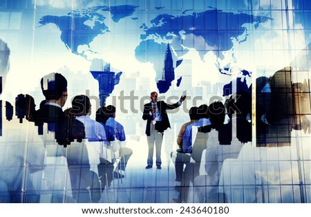 Business People Global Seminar Conference Meeting Training Concept