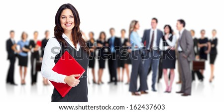 Business people group. Isolated over white background. - stock photo