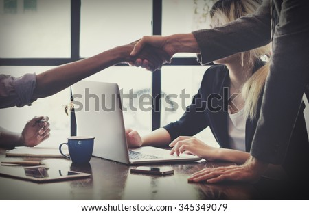 Business People Handshake Greeting Deal Concept #345349079