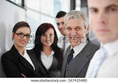 Business people having working meeting at office #167435480
