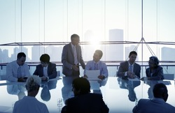 Business People in a Meeting and Working Together