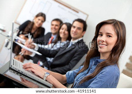 Business people in a meeting at the office