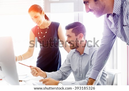 Business people in modern office #393185326