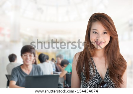 Business people in the studio, cheerful and motivated