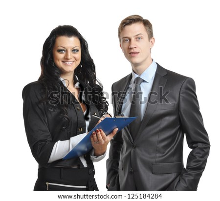 business people. isolated on white