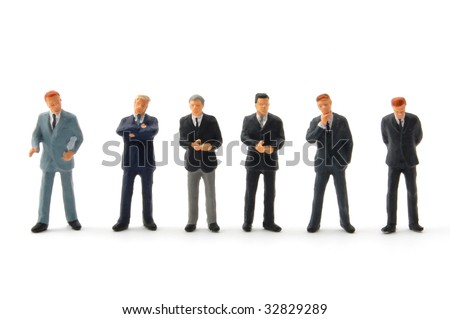 business people isolated on white background discussing a problem