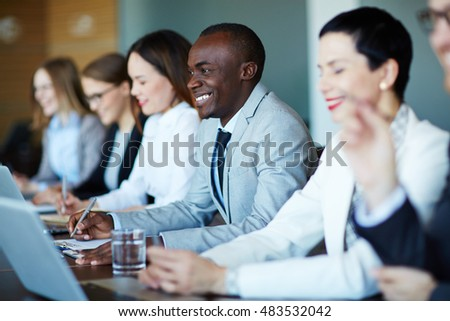 Business people listenning to seminar #483532042