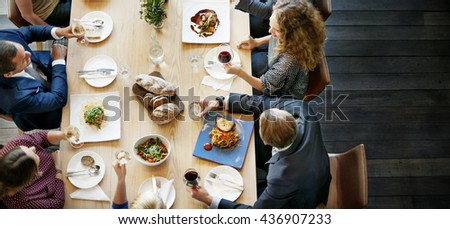 Business People Lunch Celebration Together Corporate Concept #436907233