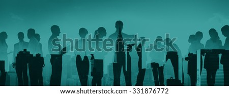 Business People Meeting Conference Corporate Cityscape Concept #331876772