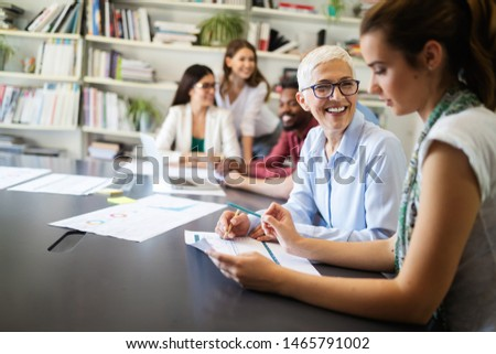 Business People Meeting Conference Discussion Corporate Concept #1465791002
