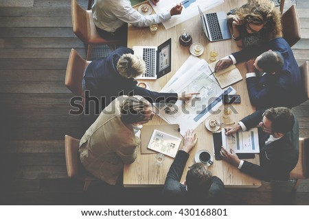 Business People Meeting Conference Discussion Corporate Concept #430168801