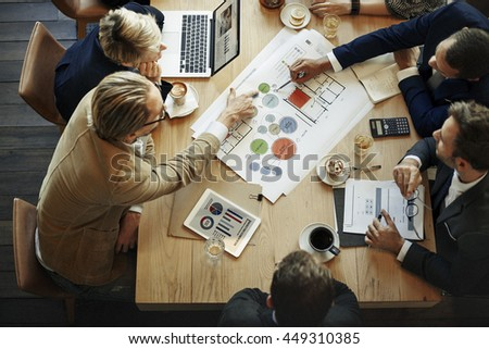 Business People Meeting Conference Discussion Corporate Concept #449310385