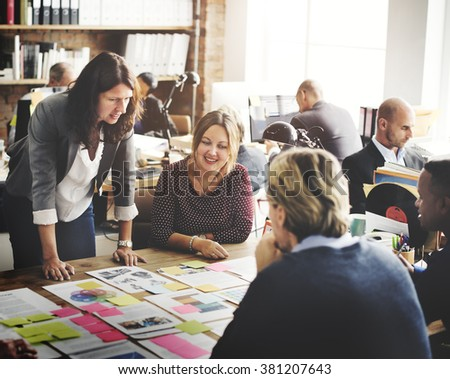Business People Meeting Conference Discussion Working Concept #381207643