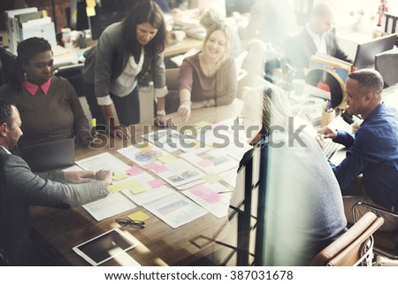 Business People Meeting Conference Discussion Working Concept #387031678