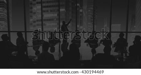 Business People Meeting Conference Speaker Presentation Concept #430194469