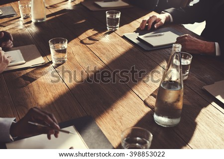 Business People Meeting Discussion Agreement Negotiation Concept