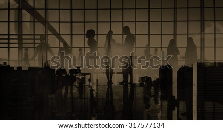 Business People Meeting Discussion Communication Concept #317577134
