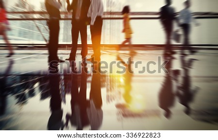 Business People Meeting Discussion Commuter Concept - Shutterstock ID 336922823