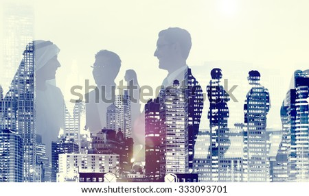 Business People Meeting Discussion Corporate Handshake Concept