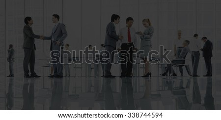 Business People Meeting Discussion Corporate Handshake Concept #338744594