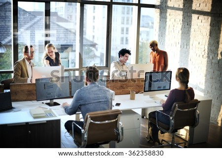 Business People Meeting Discussion Working Office Concept #362358830