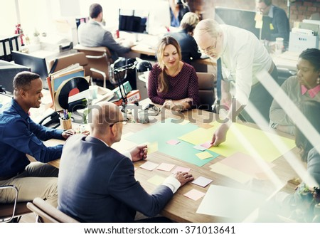 Business People Meeting Discussion Working Office Concept #371013641