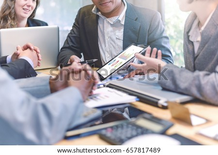 Business people meeting good teamwork in office.Teamwork successful Meeting Workplace strategy Concept. #657817489