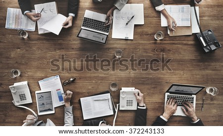 Business People Meeting Growth Success Target Economic Concept - Shutterstock ID 372243133