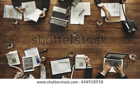 Business People Meeting Growth Success Target Economic Concept - Shutterstock ID 444918958