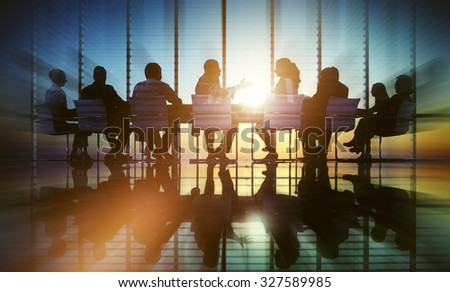 Business People Meeting Office Professional Discussion Concept