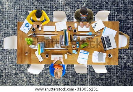 Business People Office Working Place of Work Concept #313056251