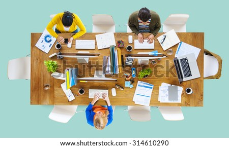 Business People Office Working Place of Work Concept #314610290
