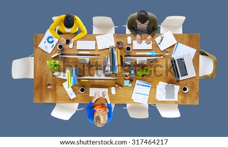 Business People Office Working Place of Work Concept #317464217