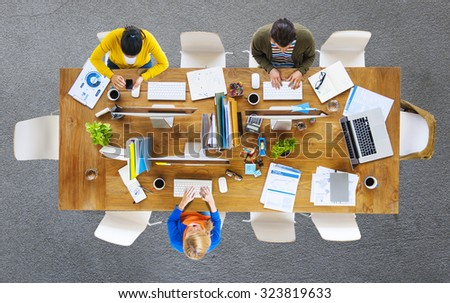 Business People Office Working Place of Work Concept #323819633