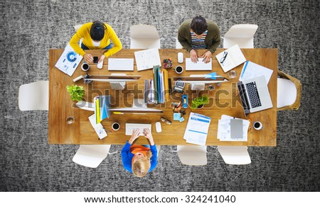 Business People Office Working Place of Work Concept #324241040