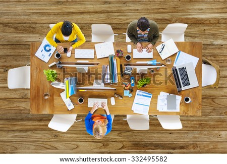 Business People Office Working Place of Work Concept #332495582