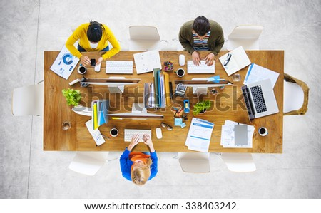 Business People Office Working Place of Work Concept #338403242