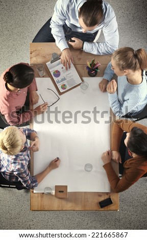 Business People on a Meeting - Shutterstock ID 221665867