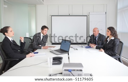 Business people on a meeting